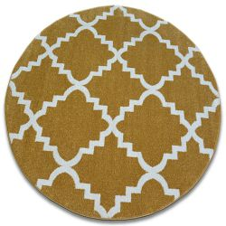 Teppich SKETCH ring - F343 Gold/Sahne trellis