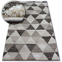 Teppich SHADOW 636 hellbeige / creme - Dreiecke