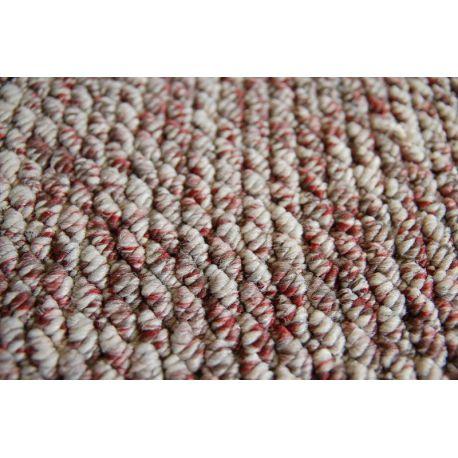Teppichboden LASER 20 beige-weinrot