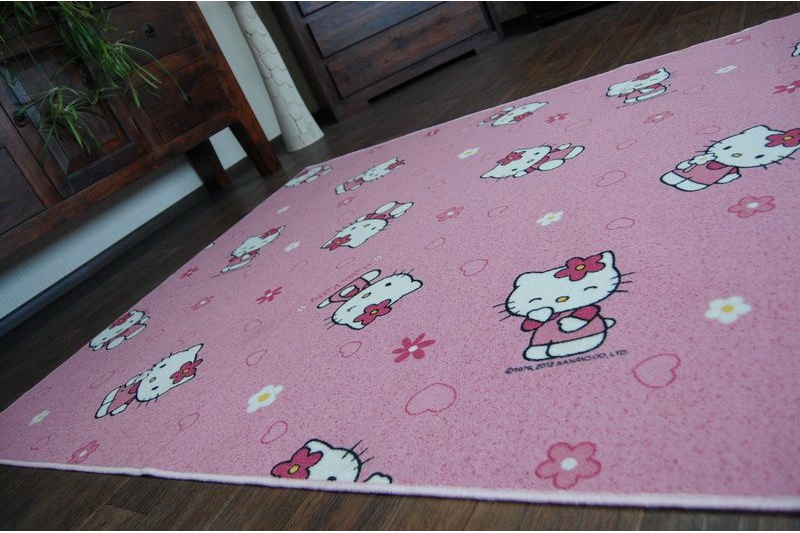 kinderteppich teppich disney hello kitty rosa pink spielteppich alle gr en ebay. Black Bedroom Furniture Sets. Home Design Ideas