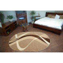 Teppich KARMEL oval braun Nuss