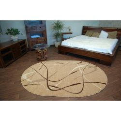 Teppich KARMEL oval CHOCO beige