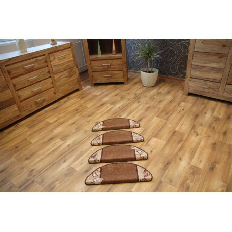 Treppenteppich LEANDRO braun