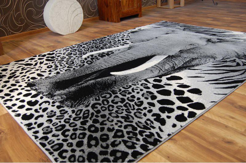 designer modern teppich flash elefant safari tiermotive carpet designteppich ebay. Black Bedroom Furniture Sets. Home Design Ideas