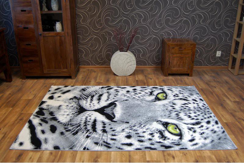 Designer Modern Teppich FLASH Leopard Safari Tiermotive