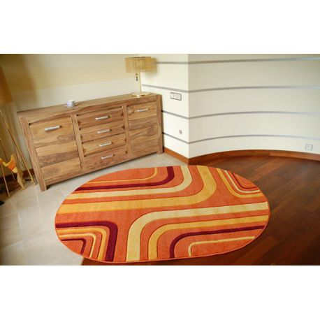 Teppich oval RUBIKON 8204 orange