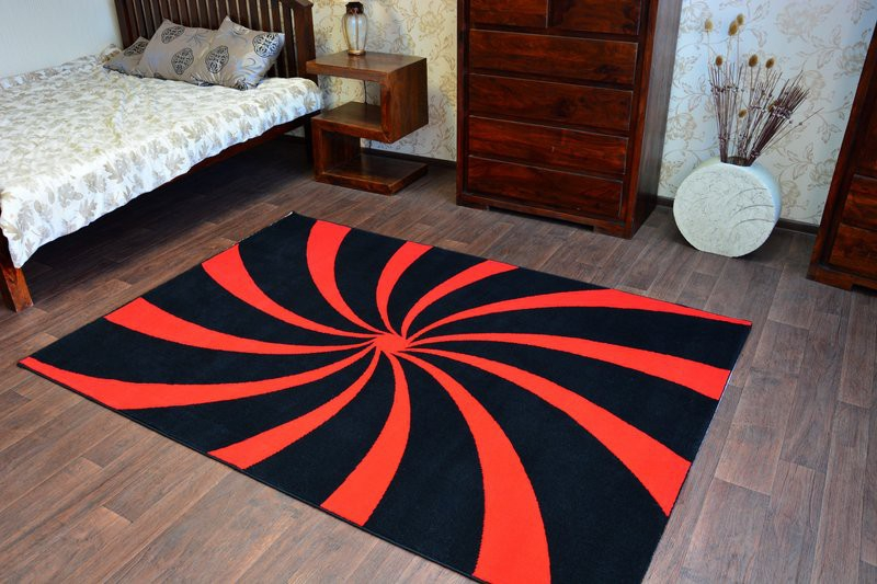designer modern teppich flash geometrisch twister hypnose carpet designteppich ebay. Black Bedroom Furniture Sets. Home Design Ideas