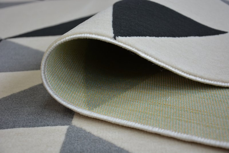 modern teppich canvas scandi balta flachflor dicht gewebtem geometrisch dreieck ebay. Black Bedroom Furniture Sets. Home Design Ideas