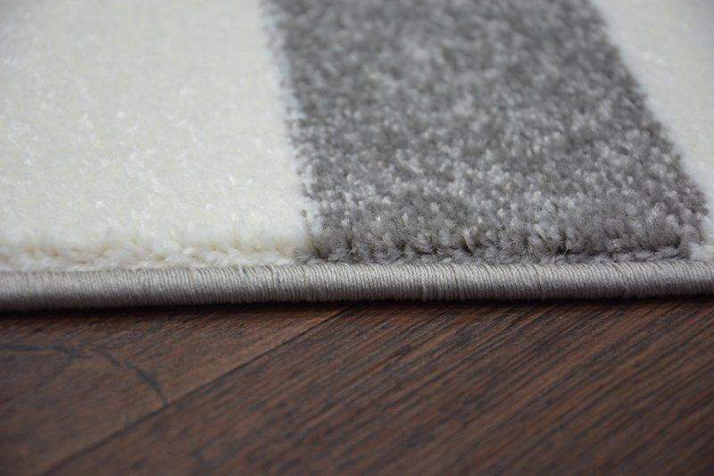 6 gr en modernen weich teppich sketch f758 grau wei gestreift streifen stripe ebay. Black Bedroom Furniture Sets. Home Design Ideas