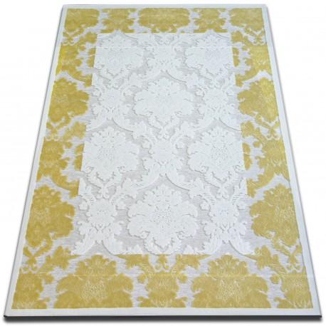Teppich ACRYL YAZZ 3720 Elfenbein/Leuchtend gelb