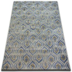 Teppich DROP JASMINE 030 Hell blau/Rauch