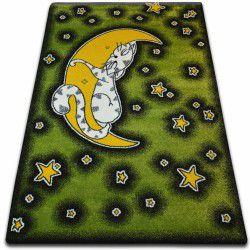 Teppich KIDS Katze grün C414