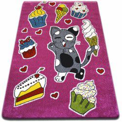 Teppich KIDS Kuchen rosa C415