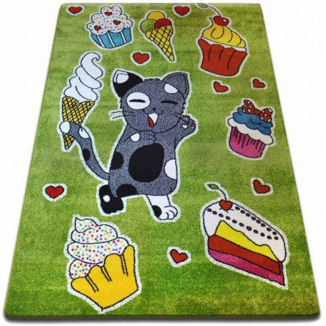Teppich KIDS Kuchen grün C415