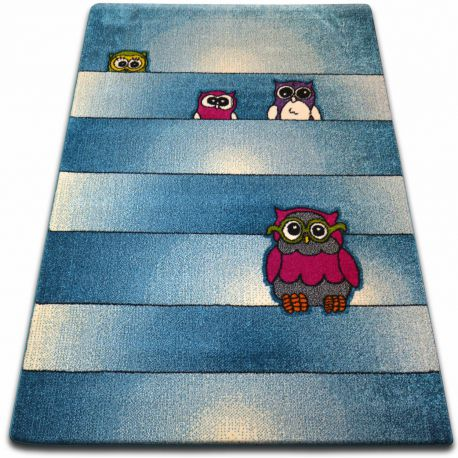 Teppich KIDS Eulen blau C412
