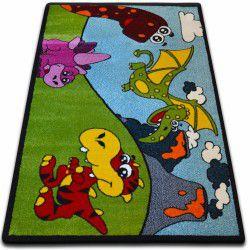 Teppich KIDS Dino grün C417