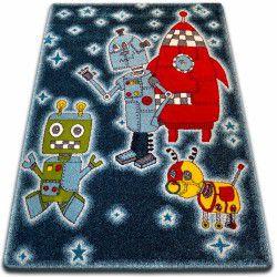Teppich KIDS Roboter schwarz C419