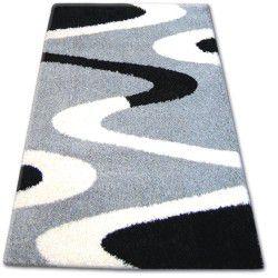 Teppich SHAGGY ZENA 3310 grau / schwarz