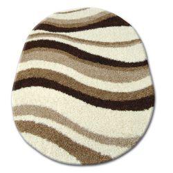 Teppich oval SHAGGY ZENA 2490 elfenbein / beige