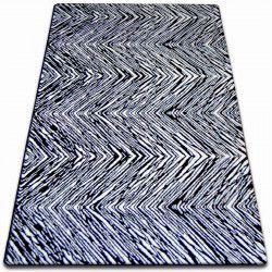 Teppich SKETCH - F754 weiß/schwarz - Zickzack