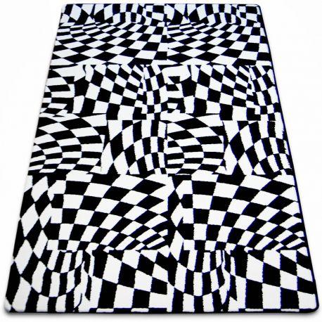 Teppich SKETCH - F756 weiß/schwarz