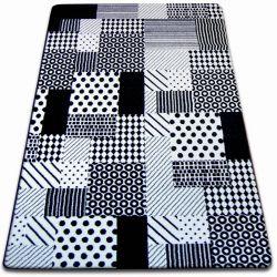 Teppich SKETCH - F760 weiß/schwarz