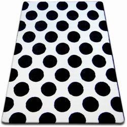 Teppich SKETCH - F761 weiß/schwarz