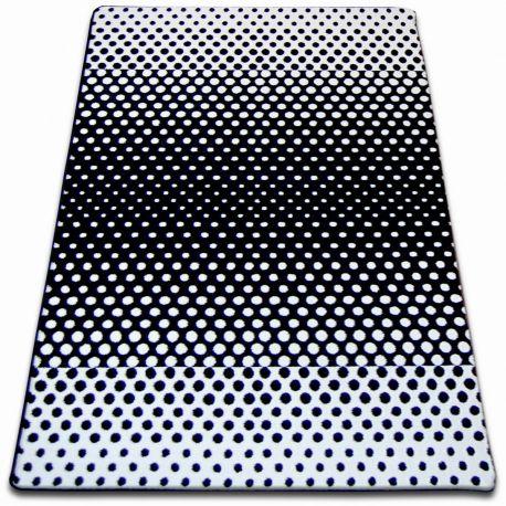 Teppich SKETCH - F762 weiß/schwarz