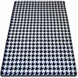 Teppich SKETCH - F763 weiß/schwarz - Hahnentritt