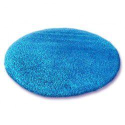 Teppich rund SHAGGY 5cm blau