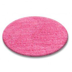 Teppich rund SHAGGY 5cm Rosa