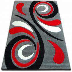 Teppich FOCUS -  8695 grau rot WELLE