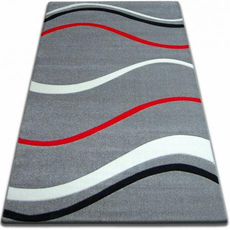 Teppich FOCUS -  8732 grau rot