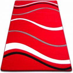 Teppich FOCUS -  8732 rot Linie Wellen