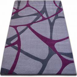 Teppich FOCUS - F241 grau lila NETZ Spinnennetz
