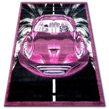 Teppich PILLY 7935 - purpurrot