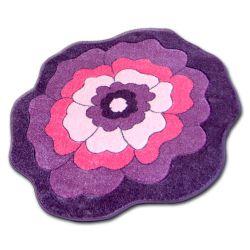 Teppich für Kinder KREIS HAPPY C273 BLUME lila