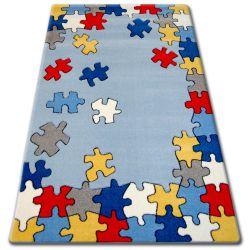 Teppich für Kinder HAPPY C212 blau Puzzle