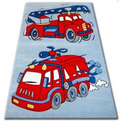 Teppich für Kinder HAPPY C190 blau Feuerwehrauto