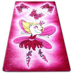 Teppich für Kinder HAPPY C123 rosa Fee