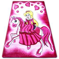 Teppich für Kinder HAPPY C187 rosa Prinzessin
