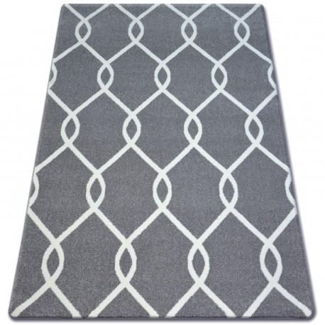 Teppich SKETCH - F934 grau /weiß trellis