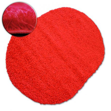 Teppich oval SHAGGY GALAXY 9000 rot