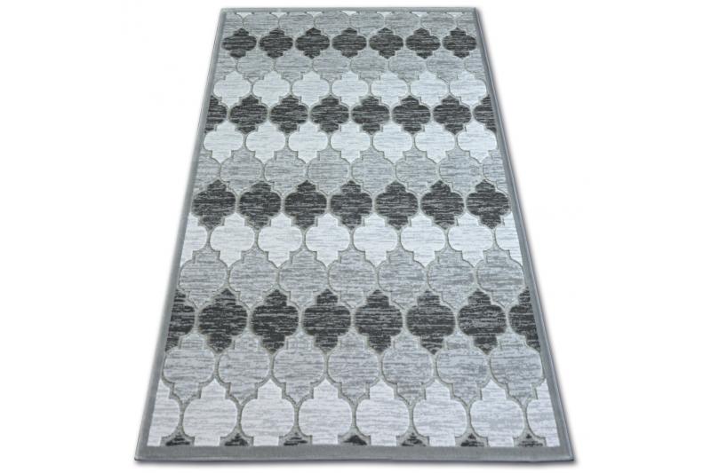 Teppich ACRYL YAZZ 3766 grauElfenbein Trellis