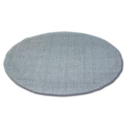 Teppich Kreis SHAGGY MICRO Silber