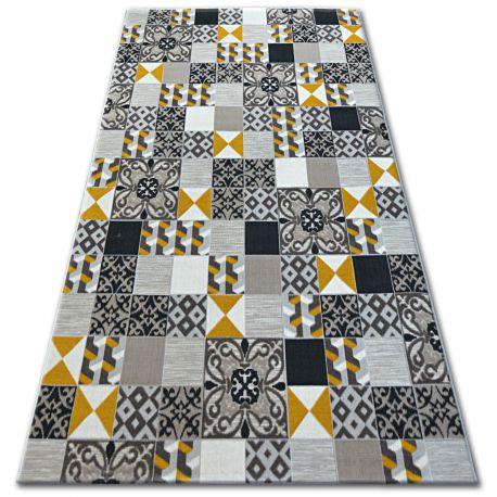 Teppich LISBOA 27218/255 Quadrate Gelb
