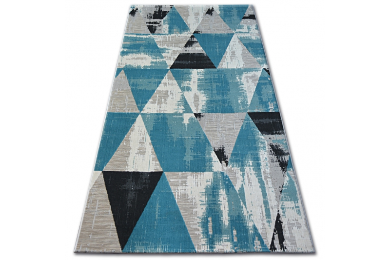 Teppich LISBOA 27216754 Dreiecke Türkis