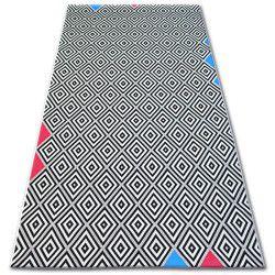 Teppich COLOR 19306/236 Diamanten Quadrate Schwarz