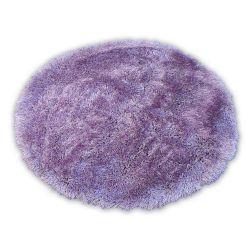 Teppich LOVE SHAGGY kreis modell 93600 lila