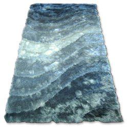 Teppich SHAGGY 3D - 201 grau silber